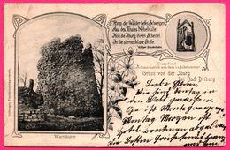 Gruss Von Der Iburg Hei Bad Driburg - Wartthurm - PLATIN CRAYON OLM - 1904 - Bad Driburg