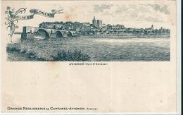 """AVIGNON  ( 84 )  Pont  St-Bénézet    +  PUB   """"  Grande  Réglisserie  De  Cantarel  """" - Avignon"""