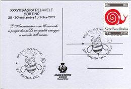 Italia 2017 37^ Sagra Del Miele Annullo Sortino (SR) Cartolina Dedicata - Alimentazione