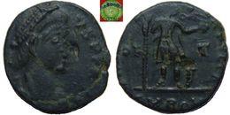 Roman Empire - AE4 Of Honorius (393 – 423 AD), VRBS ROMA FELIX, Victory - 8. La Fin De L'Empire (363-476)