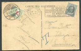 Belgique 5c. Houyoux Obl. Méc. BRUXELLES 1 Sur CV Du 18-VI-1928 Vers Lellig Et Taxée à 10c. (T-Taxe) Obl. Dc GREVENMACHE - Postage Due