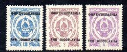 1003 490 - YUGOSLAVIA 1950 , Segnatasse La Serie Unificato N. 111/112  Integra  *** - Segnatasse