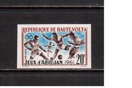 Haute-Volta-1962,(Mi.108B) Imper.,Football, Soccer, Fussball,calcio, MNH - Calcio