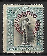 URUGUAY    -   1897.   Y&T N° 118 Oblitéré.  Surchargé  Provisorio - Uruguay