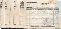 B6502 - Penig - 12 Rechnungen - Max Schneider - Fleisch Und Wurstwaren - Allemagne