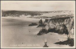 Pinnacle And Monkey Rocks, Holywell, Cornwall, 1957 - Valentine's RP Postcard - England