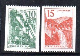 1005 490 - YUGOSLAVIA 1958 , Industria La Serie Bobina Unificato N. 741/742  Integra  ***  Ordinaria - 1945-1992 Repubblica Socialista Federale Di Jugoslavia