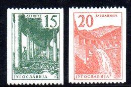 1006 490 - YUGOSLAVIA 1961 , Industria La Serie Bobina Unificato N. 869/870  Integra  ***  Ordinaria - Nuovi