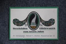 Carte De Visite - 1914 , ZURICH , Fr.SCHLAEPFER, Pension, Kasernenstrasse 15. - Visiting Cards