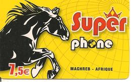 CARTE-PREPAYEE-7.5€-SUPER PHONE-CHEVAL-HORISON MOBILE--Exp 31/12/2011-TBE - Autres Prépayées