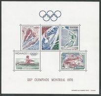 """Monaco Bloc YT 11 """" XXIe Jeux Olympiques De Montréal """" 1976 Neuf** - Blocs"""