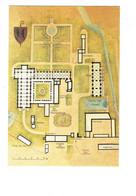 Cpm - 21 - Abbaye De FONTENAY - Plan De L'abbaye Royale De Notre Dame Colombier Chenil Infirmerie Boulangerie Blason - France