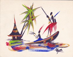 CARTE DOUBLE D'AFRIQUE--un Petit Bonjour De OUAGADOUGOU---voir 4 Scans - Other Collections