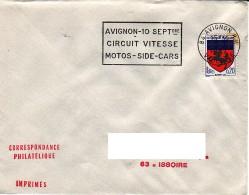 FRANCE : 1967 - Avignon RP - Circuit Vitesse - Motos - Side-cars - Frankreich