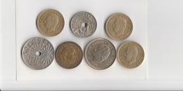 Lotto Di 7 Monete -  Spagna - Vari Anni Come Da Foto - Spagna