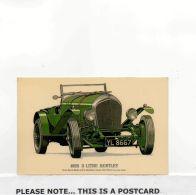 Postcard - 1925 3 Litre Bentley - VG - Unclassified