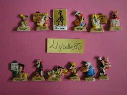 Serie Complète 12 Fèves PERSO En Porcelaine LUCKY LUKE FETE LES ROIS - La Mie Caline 2007 ( Feve Figurine Miniature ) - BD