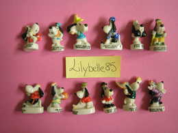 Serie Complète 12 Fèves En Porcelaine DROOPY SPORTIF 2000 ( Feve Figurine Miniature ) RARE - Cartoons