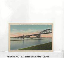 Postcard - Peace Bridge Across Niagara River Connecting Canada And Buffalo, NY, C1950s - Card No. 2A-H162 - VG - Postcards
