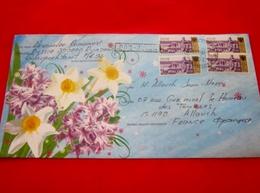 RUSSIA Lettre Illustrée Art Mail  Europe Moscou Russie  Marcophilie Lettre Mail-Art Pour La France - 1992-.... Federation