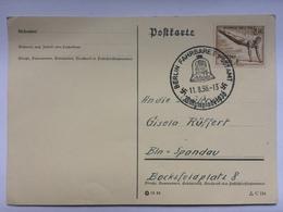 GERMANY 1936 Olympics Postcard With Berlin Fahrbares Postamt Olympiade Handstamp - Briefe U. Dokumente