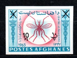 1964 Anti Malaria MNH IMPERFORATED Surcharge Michel # 903B (23) - Afghanistan