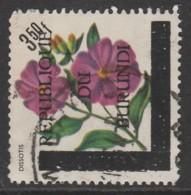 """Burundi 1967 Flowers Stamps Of 1967 Overprinted """"REPUBLIQUE DU BURUNDI"""" And Bar 3.50 Fr Multicoloured SW 300 O Used - Burundi"""