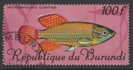 Burundi 1967 Fish 100 Fr Multicoloured SW 337 O Used - Burundi