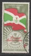 """Burundi 1962 Independence - Inscribed """"1.7.1962"""" 4 Fr Multicoloured SW 33 O Used - 1962-69: Used"""