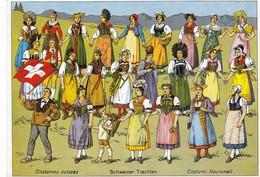 Postcard Costumes Suisses Schweizer Trachten Costumi Nazionali  My Ref  B22926 - Costumes