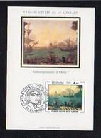 """Art,Arts /Carte Maximum Cachet 1er Jour 88 Charmes1982 Sur N° 2211 / Claude Gelée Dit Le Lorrain """"Embarquement à Ostie"""" - Pintura & Cuadros"""