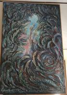 """OPERA DELL'ARTISTA NINO PARLAGRECO """"VISIONE COSMICA"""" POLIMATERICO ASTRATTO 100X200 DEL 2005 - Acrylic Resins"""