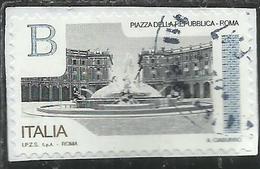 ITALY REPUBLIC ITALIA REPUBBLICA 2016 PIAZZE D'ITALIA PIAZZA DELLA REPUBBLICA ROMA B USATO USED OBLITERE' - 1946-.. Republiek