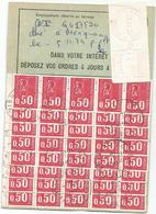 BEQUET TIMBRE DE CARNET 50CX40 + ETIQUETTE EMA 12.00 CARTE REEXPEDTION DEFINITIF MERIGNAC 1975 - 1971-76 Marianne Van Béquet