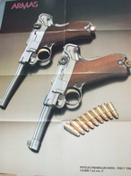 Lot 4 Affiches  Armes Révolvers - Armas Pitola Lahti  Parabellum- Campo Giro - Sig P-210 - - Other