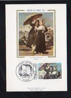 """Art,Arts / Carte Maximum Cachet 1er Jour Paris 1981 Sur N° 2124 / Goya """"La Lettre D'Amour"""" / Journée Du Timbre - Pintura & Cuadros"""