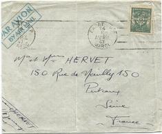 FM VERT LETTRE AVION RABAT MAROC 14 AVRIL 1947 - Franchise Militaire (timbres)
