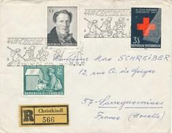 AUTRICHE - 1965 - ENVELOPPE - Recommandé Christkindl 566 - - Marcophilie - EMA (Empreintes Machines)