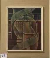OPERA DELL'ARTISTA NINO PARLAGRECO NEO FIGURATIVO IN ACRILICO 50X40 1980 NUDO - Acryliques