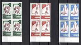 CAMEROUN N° 118 à 120  BLOCS DE QUATRE NEUFS SANS CHARNIERE COTE  16.00€  JEUX OLYMPIQUES  MEXICO - Camerun (1960-...)
