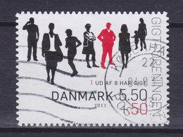 Denmark 2011 Mi. 1628 C   5.50 Kr + 0.50 Kr Fight Against Rheumatism (From Booklet) - Dänemark