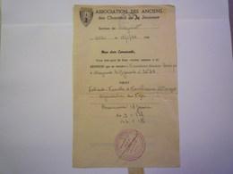 CHANTIERS De La JEUNESSE  ALBI  1944  (Association Des Anciens  -  Lettre Adressée à La Section De  MAZAMET)    - Unclassified