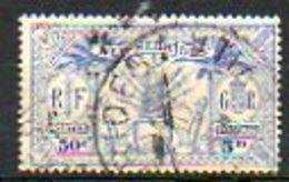 OCEANIE - (NOUVELLES HEBRIDES) - 1925 - N° 95 - 60 C.-5 P. Outremer - (Idole Indigène) - Leggenda Francese
