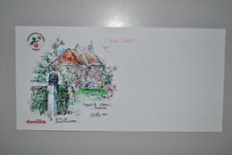 Belgique 2007 Carte Illustrée+auto-collant Fondation Damien - Cartes