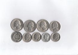 Lotto Di 9 Monete - Stati Uniti D'America - Anni Vari ( Ottimo Stato Conservazione Come Da Foto) - Etats-Unis