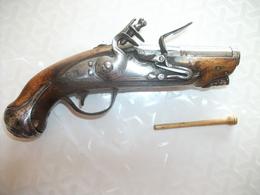 Ancien Pistolet à Silex époque Fin 18ème Début 19ème - Armes Neutralisées