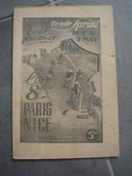 Brochure Mai 1940 Le 8ème Paris Nice - Cyclisme