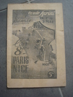 Brochure Mai 1940 Le 8ème Paris Nice - Ciclismo