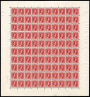 1914 G.D. Marie-Adélaide: 2 1/2Fr. Rouge, Neuf, Feuille Entière à 100, Michel:105 (2scans) - Full Sheets