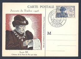 CARTE MAXIMUM - 1945 - JOURNEE DU TIMBRE - AVIGNON 13/10/1945 - 1940-49